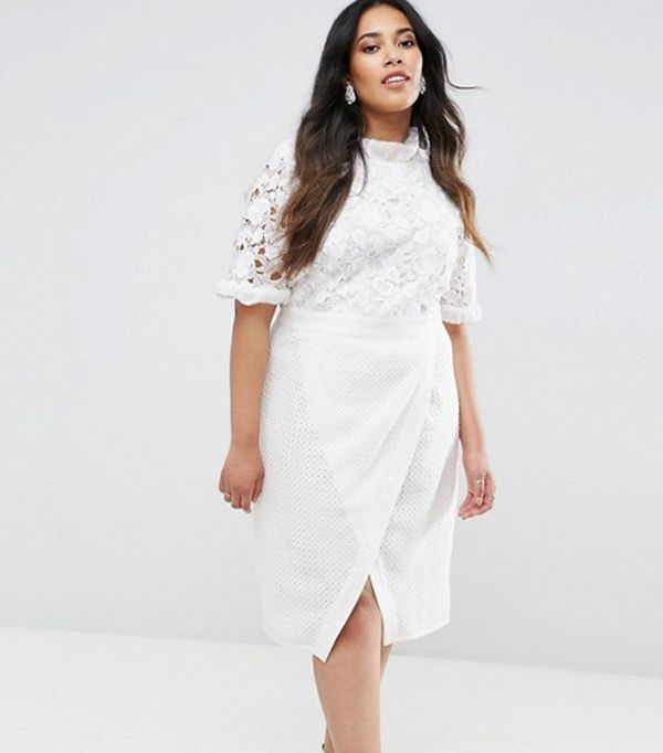 White plus size dresses- look chic and classy