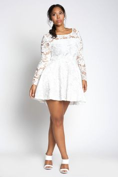 white plus size dresses yk lace skater dresscustom made to orderlace skater dress by yk. crafted in qezinjx