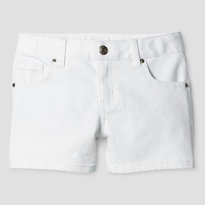 white shorts girlsu0027 denim shorts - cat u0026 jack™ white ukisfdo