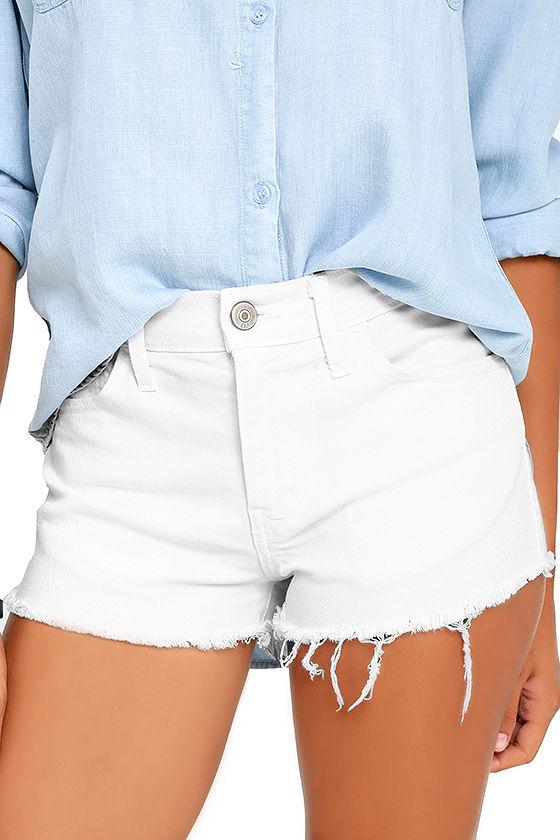 white shorts off-road white cutoff denim shorts 1 xwvhhdw