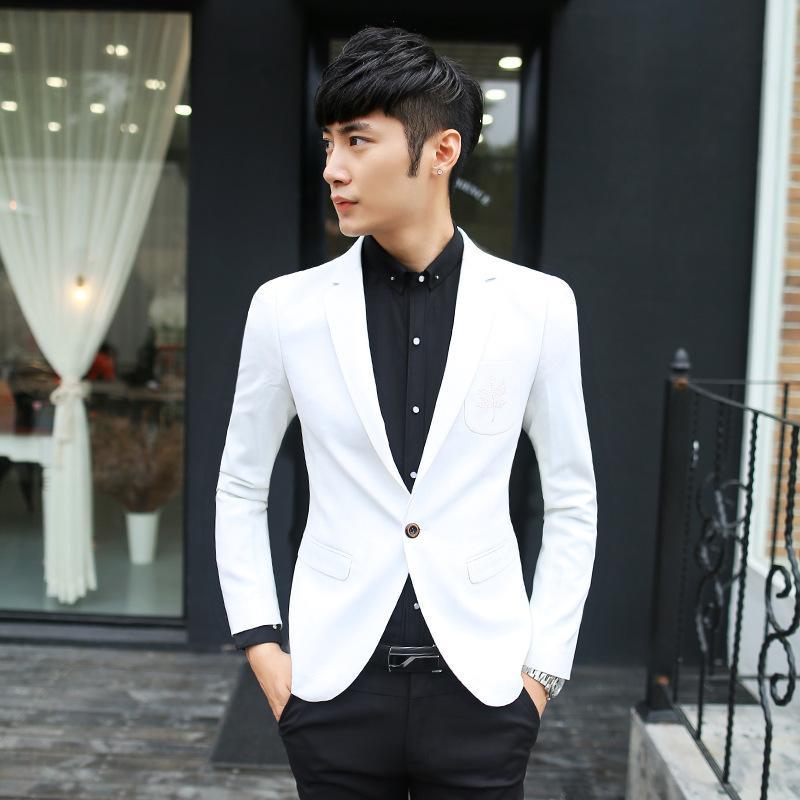 white suits for men 2018 menu0027s slim fit white blazer suit jacket groomsmen suits 1 button from rgvjeyv