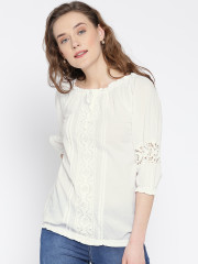 white tops uu0026f women white crochet detail top micnoxl