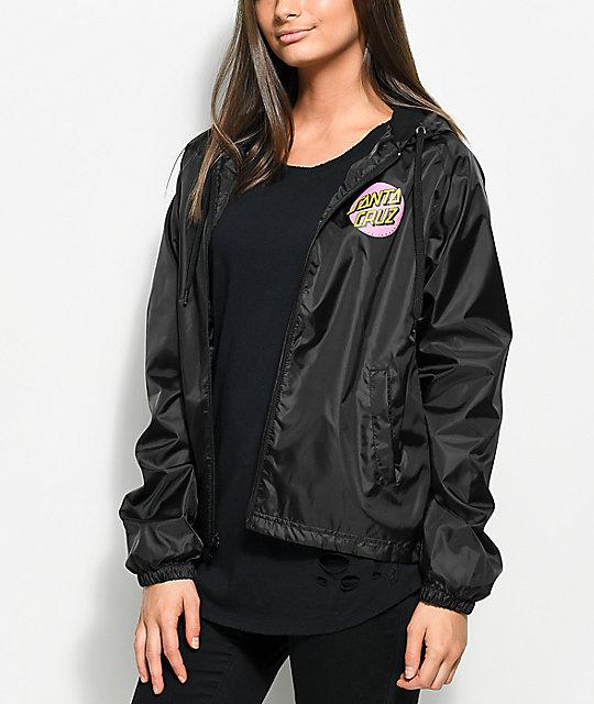 windbreaker jackets santa cruz other dot black windbreaker jacket ... iaubavn