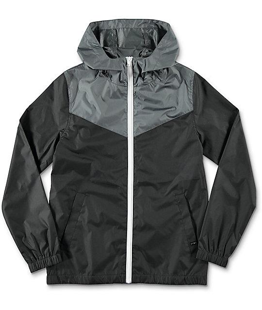windbreaker jackets zine boys sprint black u0026 charcoal windbreaker jacket ... pxhbpsk