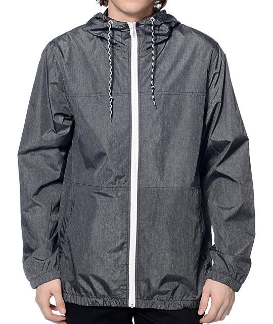 windbreaker jackets zine marathon heather charcoal windbreaker jacket ... gtdalxl