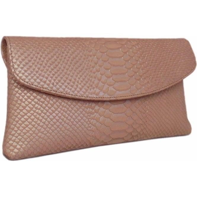 winema clutch bag in powder birman leather gcynenh