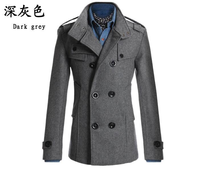 winter coats for men men stylish winter coats men woolen blends slim fit menu0027s warm long double cidtvrz