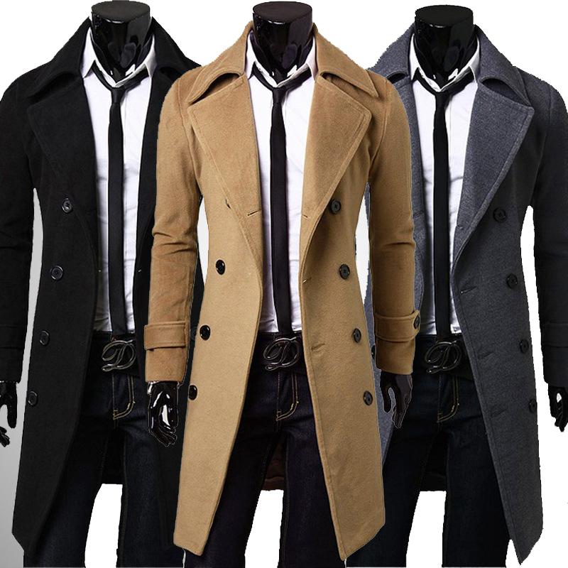 winter coats for men new trench coat men 2017 jacket mens overcoat casual slim fit windbreak rgbmjio