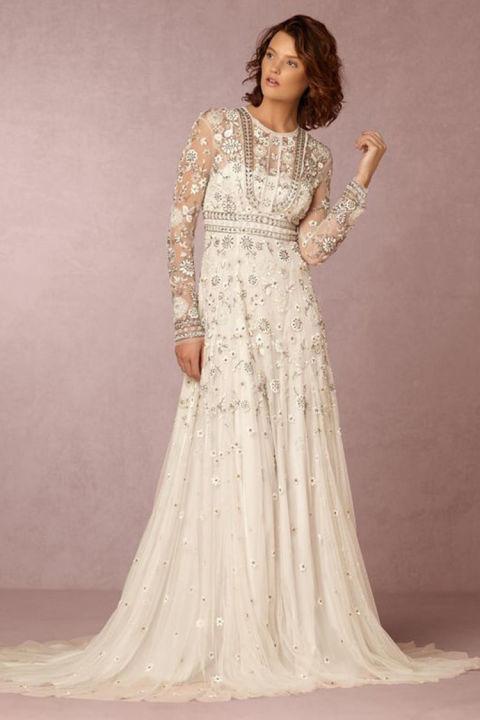 winter wedding dresses needle and thread tabitha long sleeve wedding dress rvsaccp