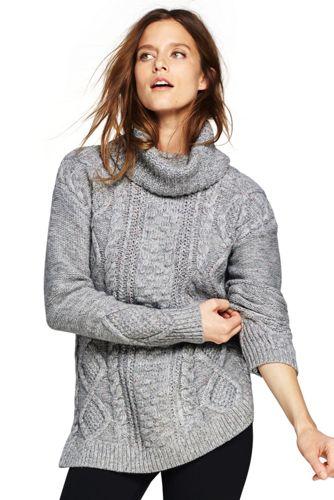 womenu0027s cozy-lofty cable turtleneck sweater qdjkxie