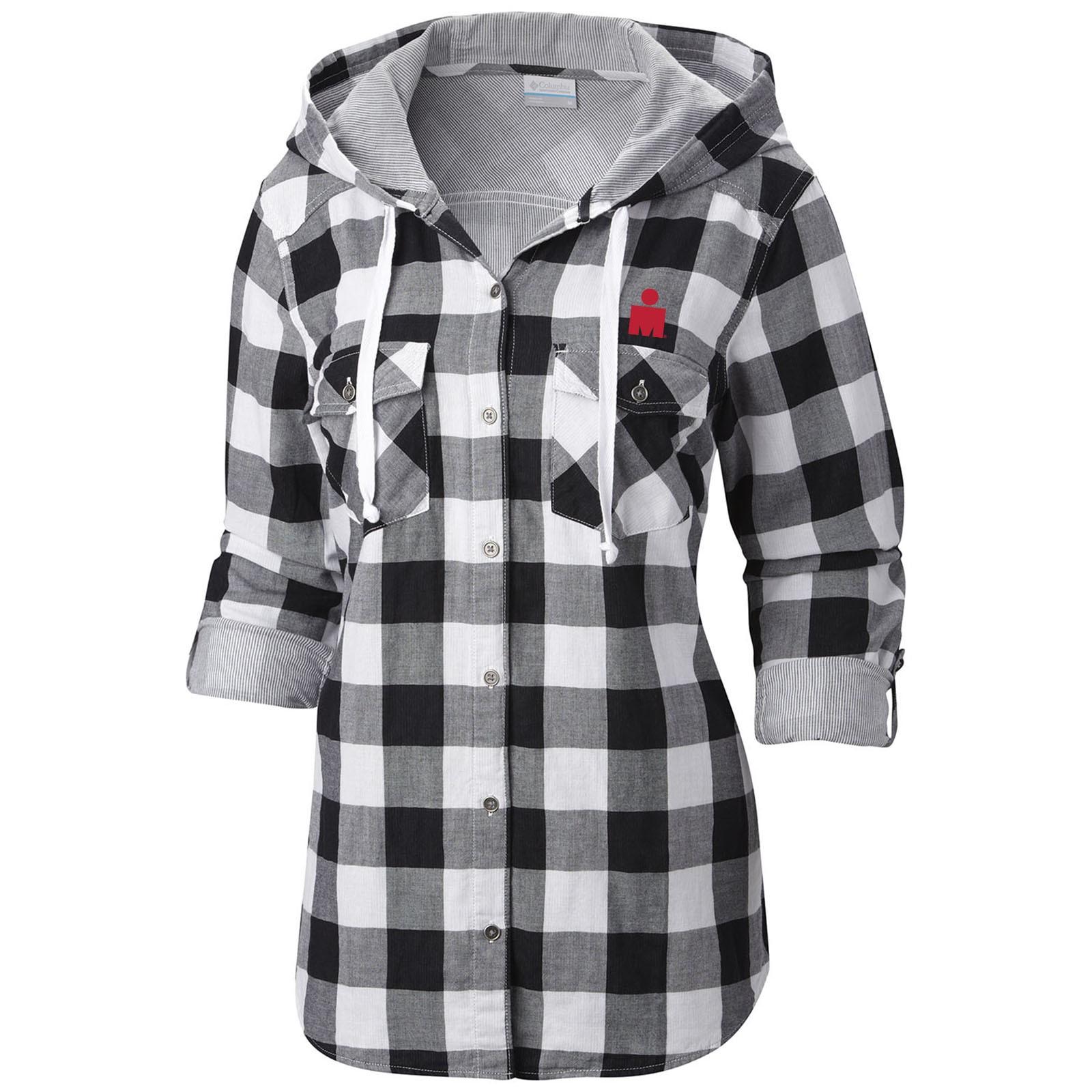 womens flannel shirt ironman columbia womenu0027s times two hooded flannel shirt mscxnml