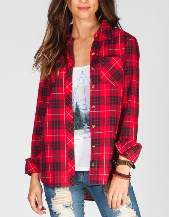WHY ARE WOMENS FLANNEL SHIRTS RED, WHITE AND BLUE?