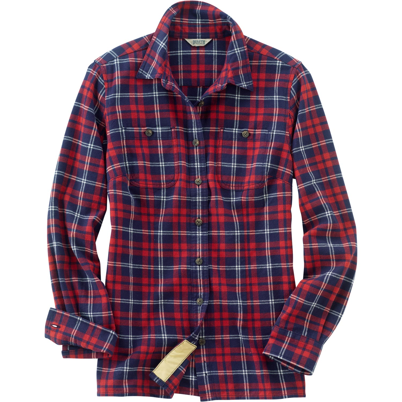 womens flannel shirt womenu0027s free swinginu0027 flannel shirt. molten red/storm blue plaid atiovxo