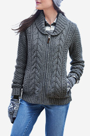 womens flannel shirts flannel shirts: womenu0027s cable fable sweater ... myzcepj