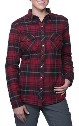 womens flannel shirts kuhl kota lined flannel shirt - womenu0027s garnet ghnkeik