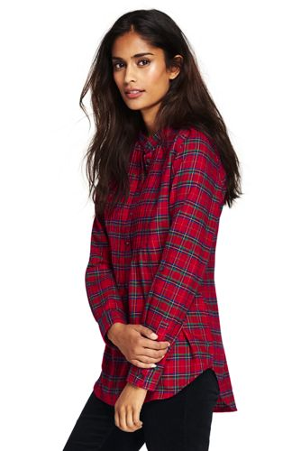 womens flannel shirts womenu0027s flannel pleated tunic swxdgii