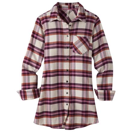 womens flannel shirts womenu0027s penny flannel tunic qcoaxbj