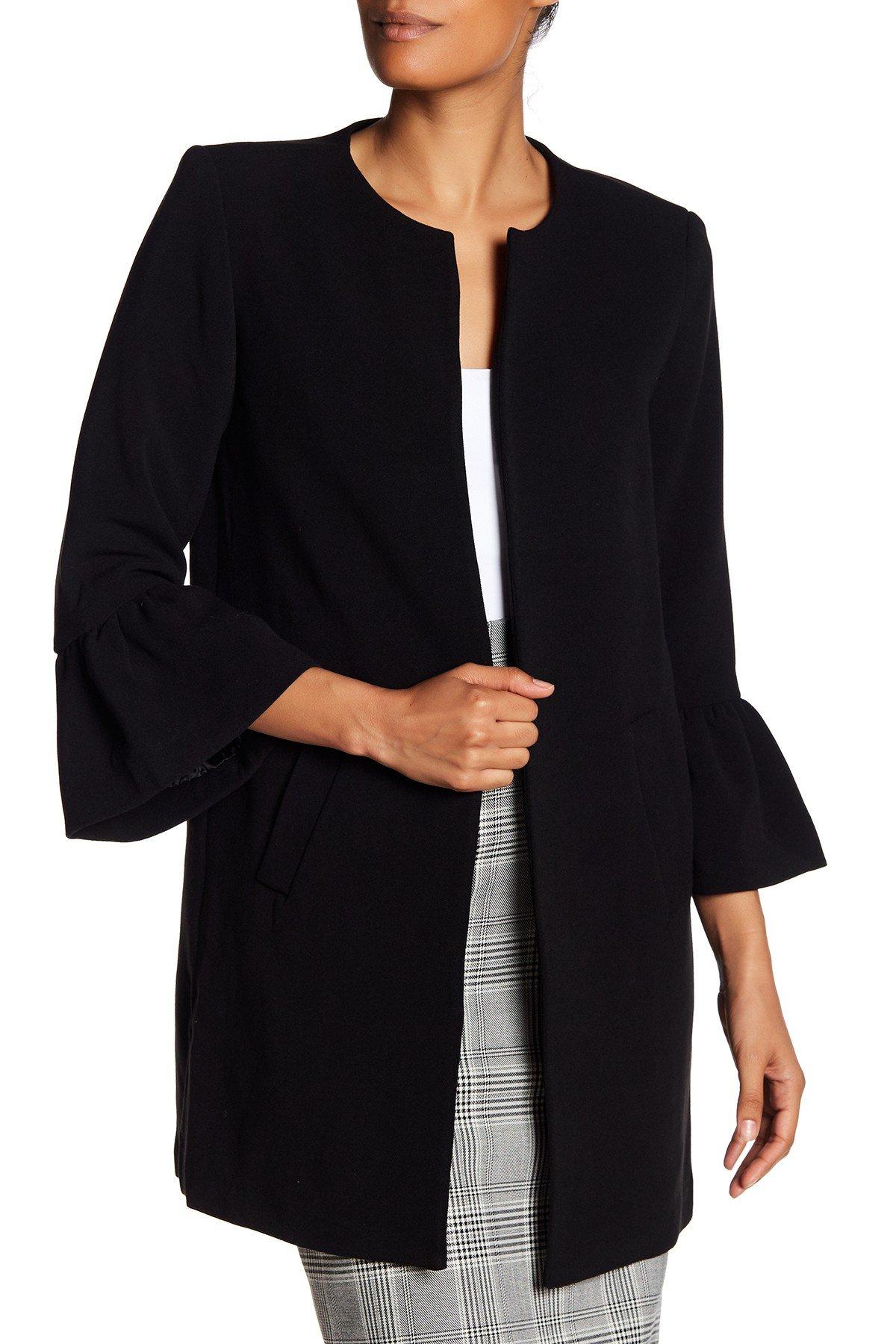 womens jackets catherine catherine malandrino - ruffle sleeve jacket yscyowv