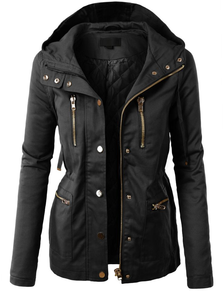 womens jackets le3no womens fully quilted lined anorak hoodie jacket with pockets dxipffj