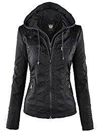 womens jackets ll womens hooded faux leather jacket ewfjrfz
