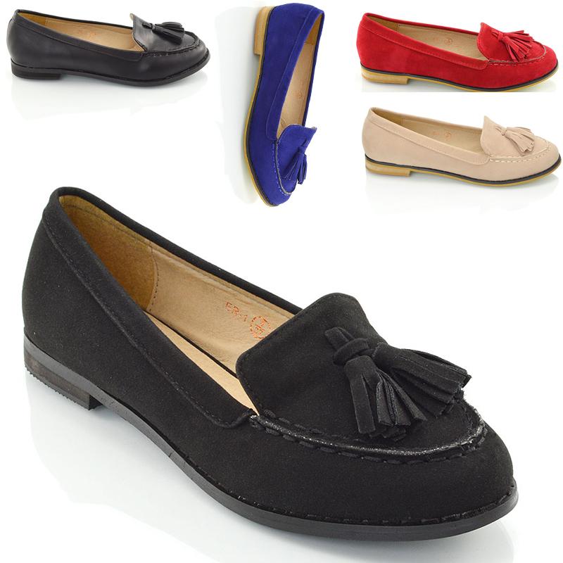 womens loafers new ladies tassel loafers womenu0027s casual vintage flats work office school  shoes zanmxea