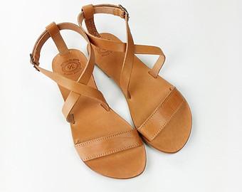 womens sandals open toe greek leather sandals - women handmade greek sandals zqeoamu
