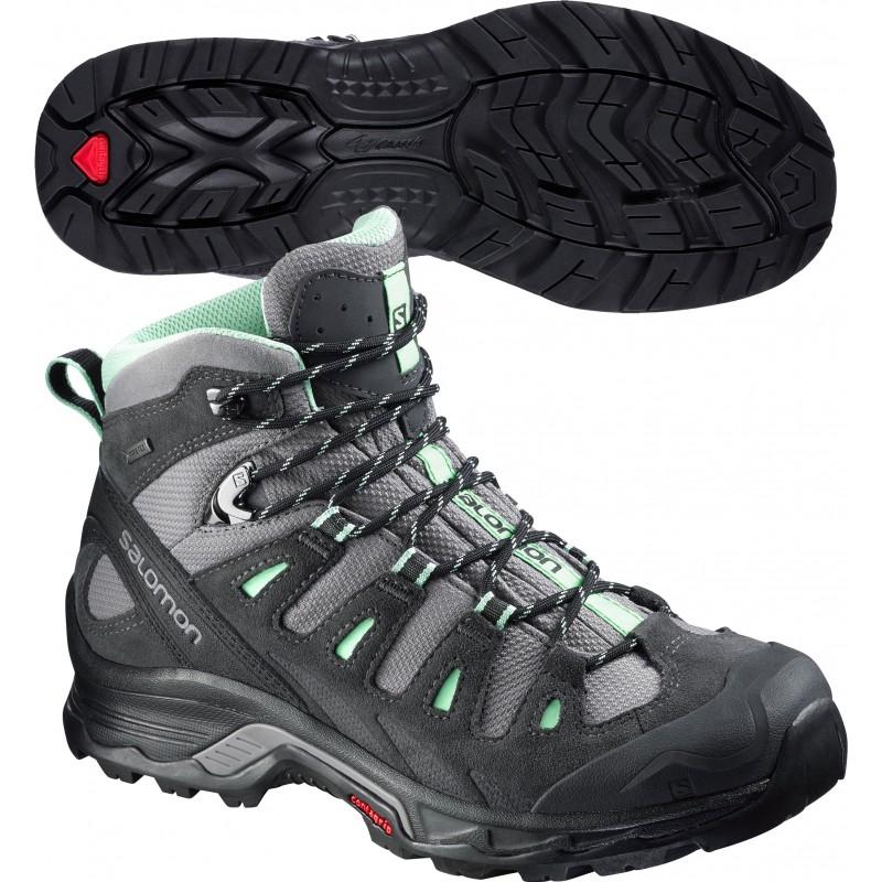 womens walking boots salomon quest prime gtx ladies walking boots - black wyleacs