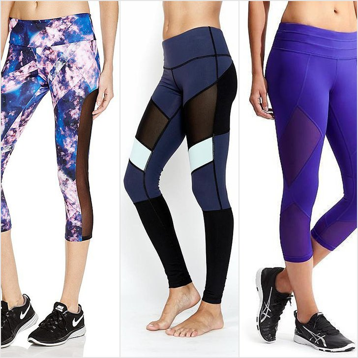 workout leggings rock the mesh legging trend in yoga, at spin, and on your next gswhdmz