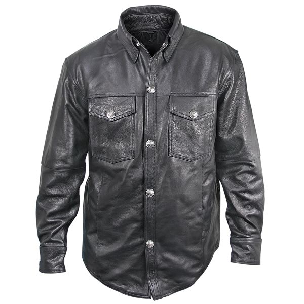 Have tough look with great men leather shirt