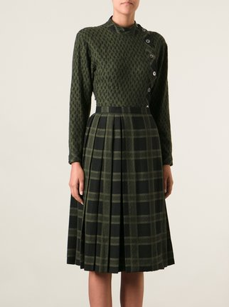 ... céline vintage knitted skirt suit hdjdewb
