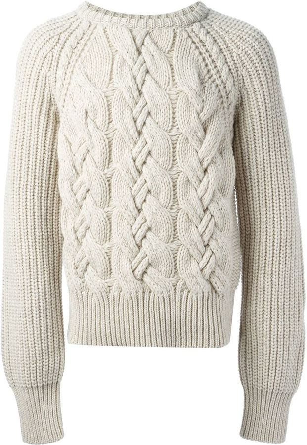 ... cerruti cable knit sweater pvgvmfn