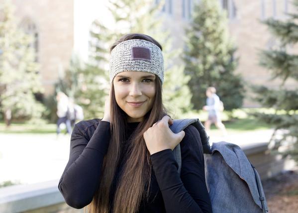 ... knit headband - black speckled knit headband izajdrb