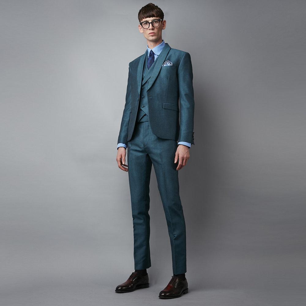 u0027the georgeu0027 jade mohair suit agurxjx