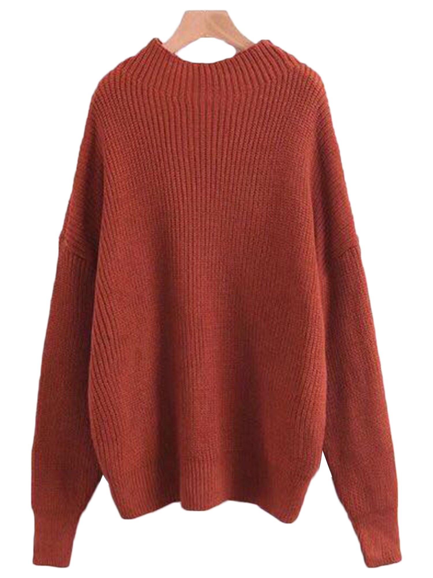 u0027thelmau0027 high-neck knitted sweater (4 colors) nvugyvl