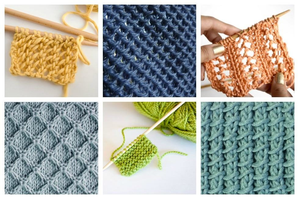 18 easy knitting stitches you can use for any project jieqbzj