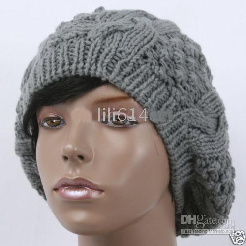 2018 knitted hats winter beanie hat beret knit crochet women cap high grade dvvimzv