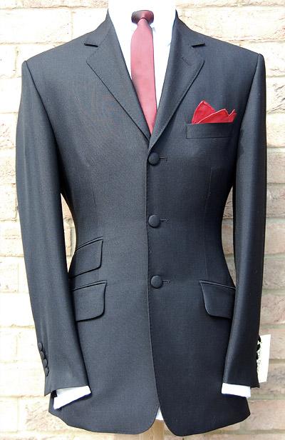 3 button mohair suit - black 3-ply kid mohair - wool blend yzkfdtt
