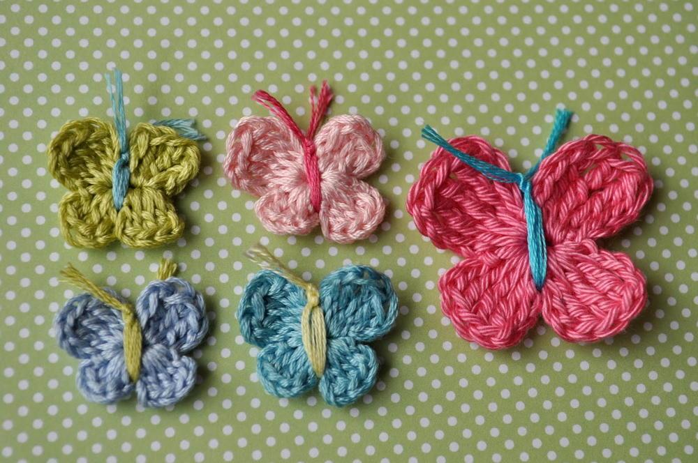 3 minute crochet butterfly pattern   allfreecrochet.com zrktzpg