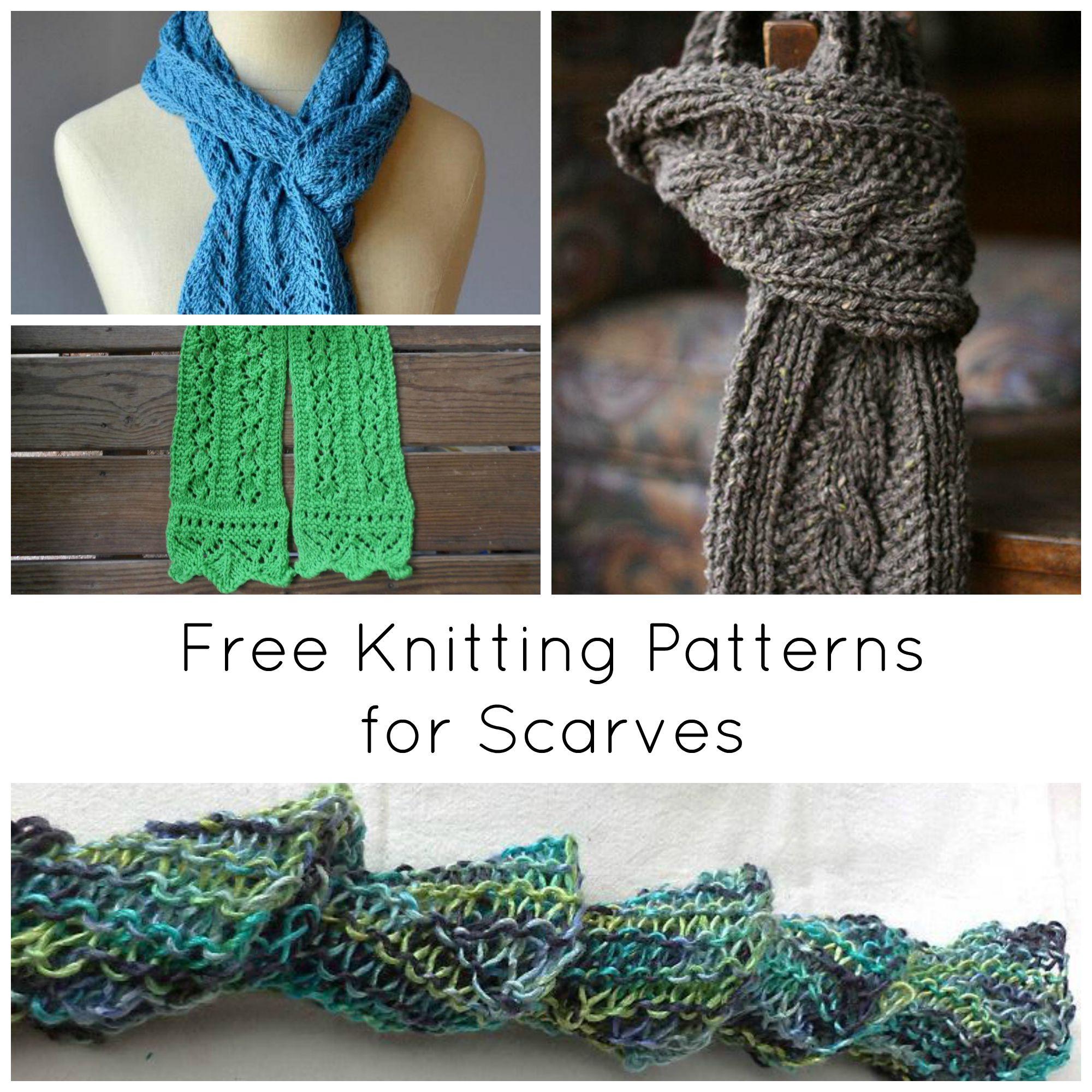 8 wonderful free knitting patterns for scarves zpybena