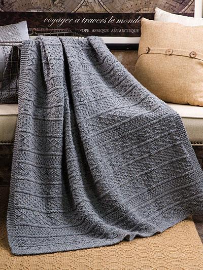 afghan patterns annieu0027s signature designs: gansey afghan knit pattern zshkgao
