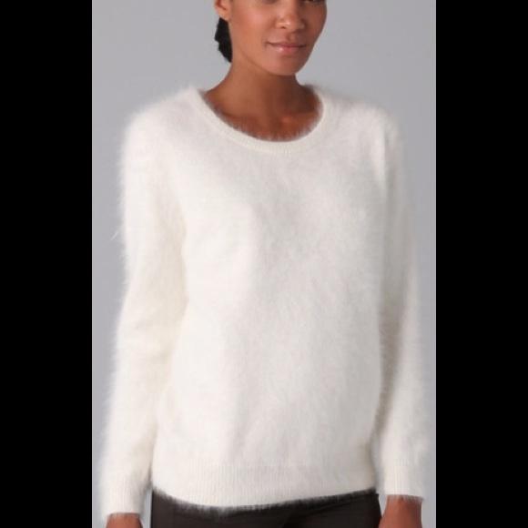 angora sweater, white ffydkjc