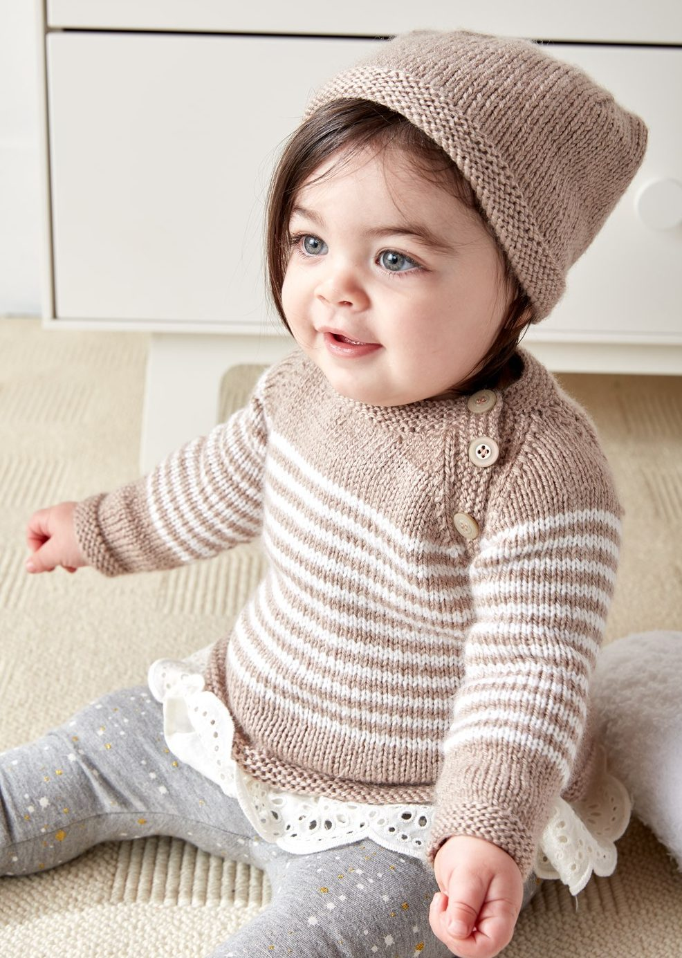 baby knitting patterns free knitting pattern for easy wee stripes baby sweater and hat bsafrfn