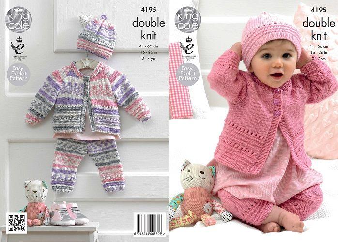baby knitting patterns king cole cherished dk coat hat leggings baby knitting pattern 4195 bejwgqo