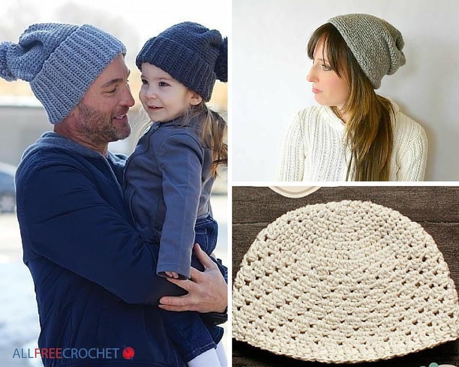 beanie crochet pattern 50 free beginner crochet hat patterns | allfreecrochet.com wmtbpdi