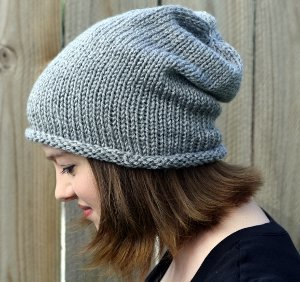 beanie knitting pattern sinfully simple slouch hat hfgolbz