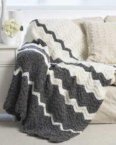 bernat patterns free pattern - bold chevron stripes knit in spicy shades make this #knit zkjyfoj