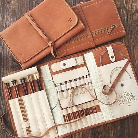 Best Knitting Accessories utskra leather knitting needle organizer / case | utskra.com fwblyiv
