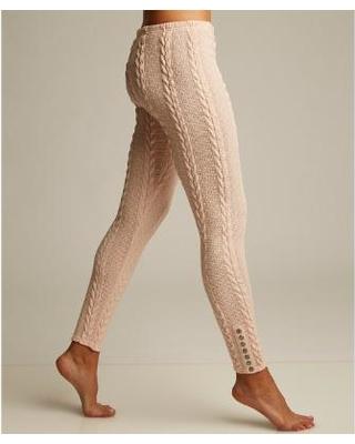 cable knit leggings lemon legwear rosewater plush cable-knit leggings fbdgpyc