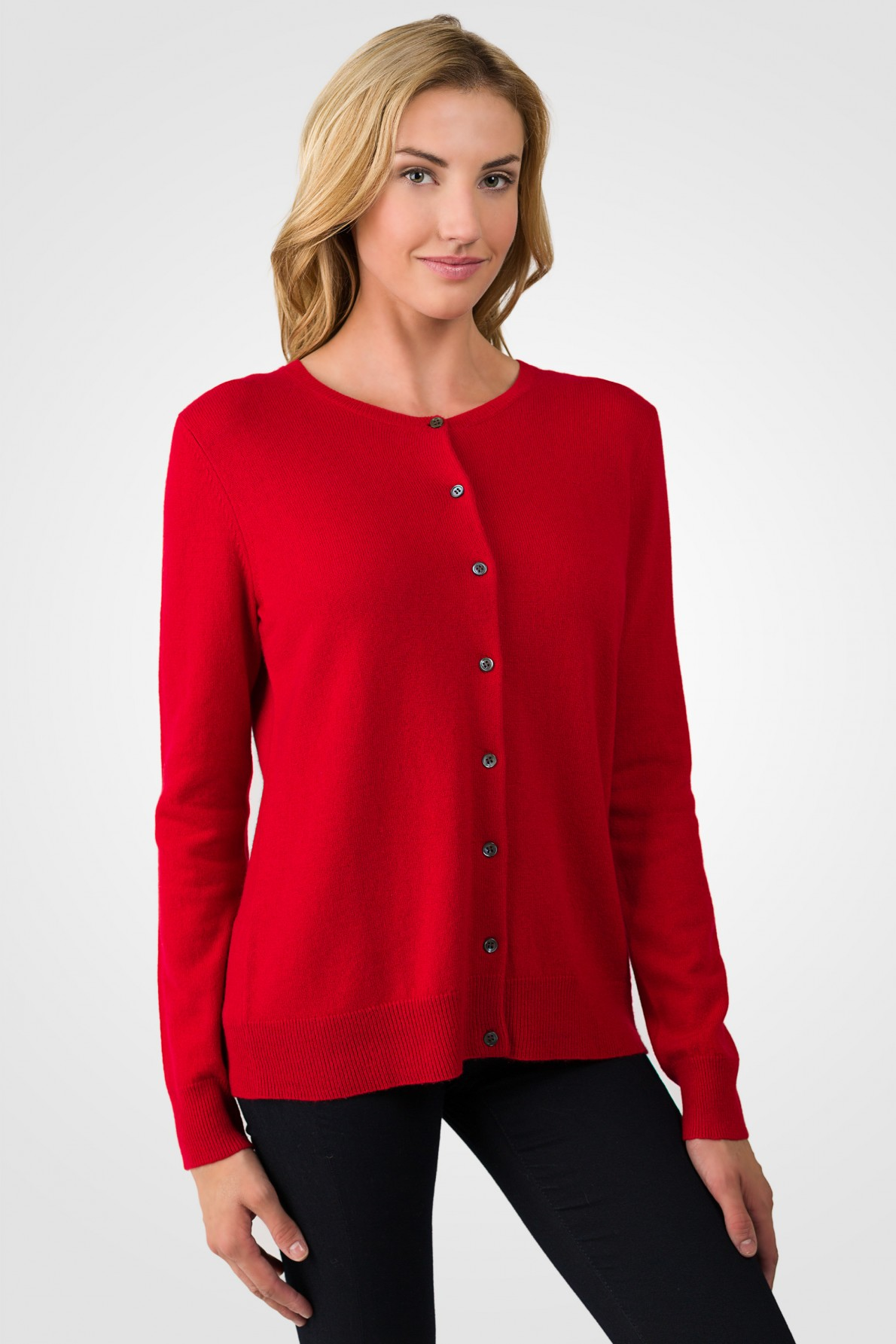 cashmere cardigan red cashmere button front cardigan sweater right side view pbfqlgb