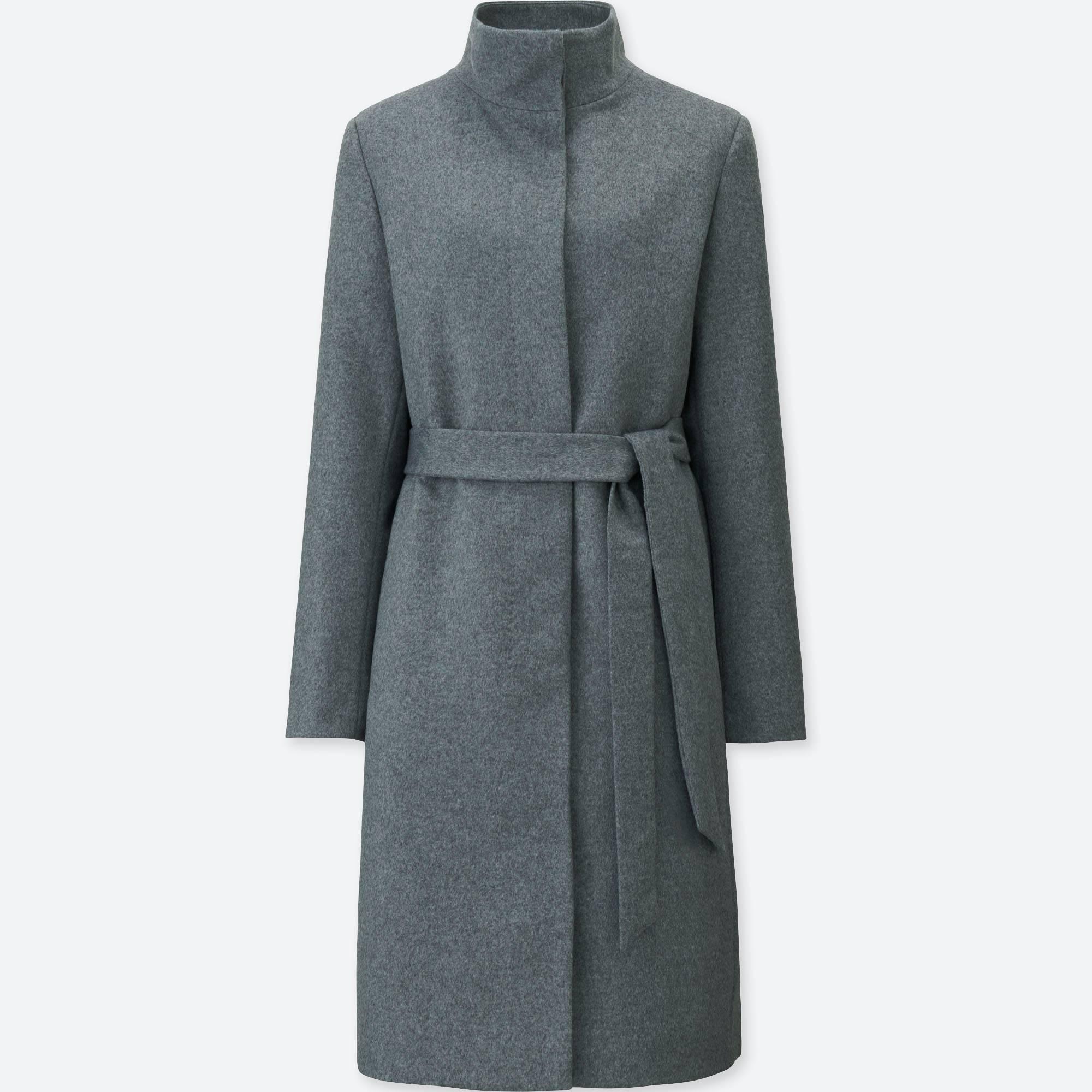 cashmere coat women cashmere blended stand collar coat bbtjxqv